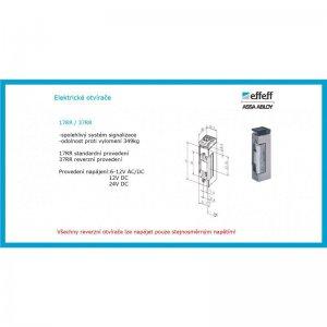 Elektrický otvírač řady 17RR a 37RR s monitorovacím kontaktem