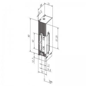 El.otvírač pro požárně odolné dveře typ 142 a 143