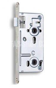 540 - Zámek zadlabací obyčejný, bez převodu - WC zámek, spodní ořech 6x6 mm