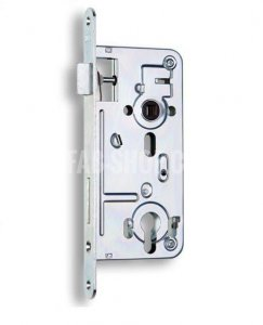 K 102 -Bezpečnostní zámek zadlabací vložkový, s pojistkou a převodem, dvouzápadový