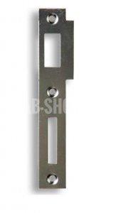 K 183 - Zapadací plech rovný - pro zámek s roztečí 72mm, levý nebo pravý